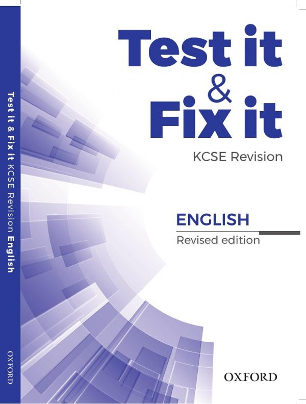 Test it & Fix it KCSE Revision English