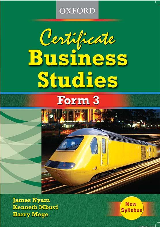 Certificate Business Studies Form 3 Student's Book