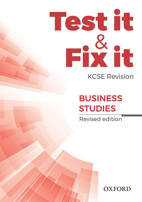 Test it & Fix it KCSE Revision Business Studies